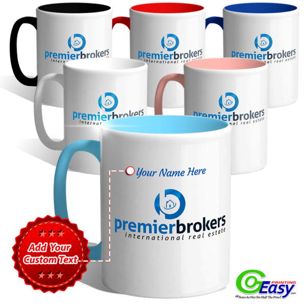 Premier Brokers Personalized Logo Mugs