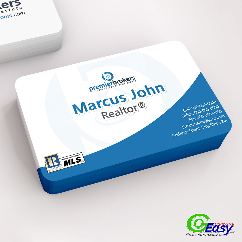 Premier Brokers Rounded Business Cards