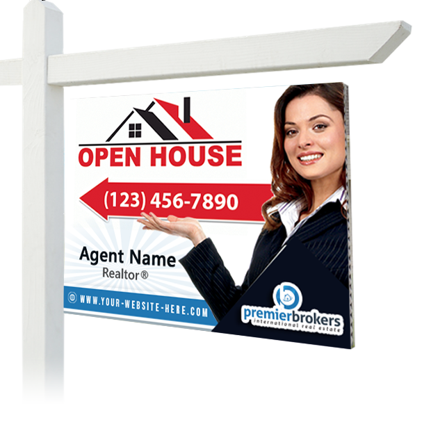 Premier Brokers Lawn Sign